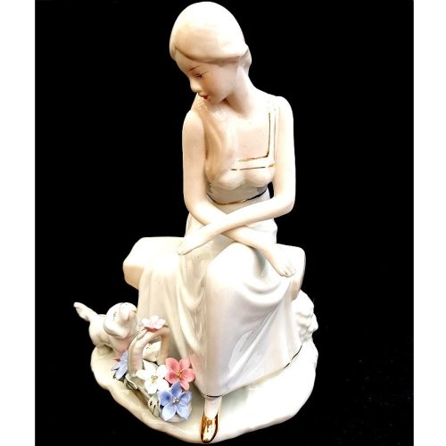f91c147fa Porcelain Victorian Lady on a bench Ornament on OnBuy