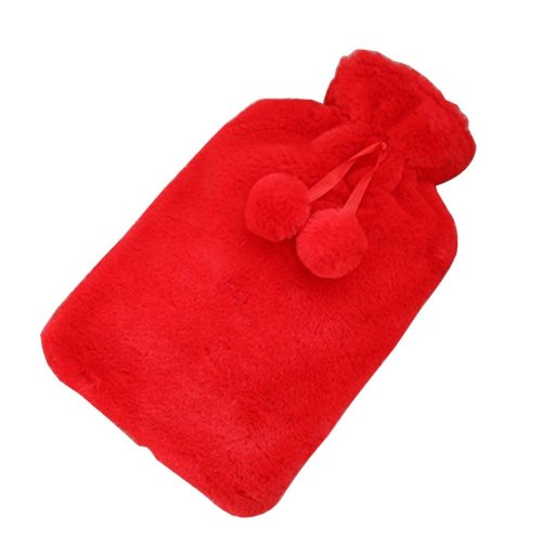 [Red] Big Hot Water Bottle Cute Hot Water Bag Hot Water Bottle With Cover