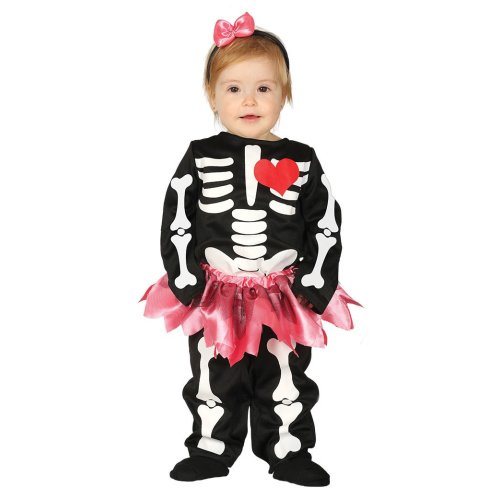 Toddlers Baby Skeleton Halloween Fancy Dress Costume 12-24 months