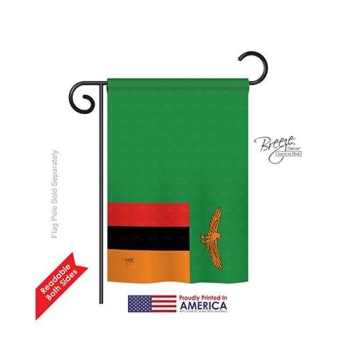 Breeze Decor 58284 Zambia 2-Sided Impression Garden Flag - 13 x 18.5 in.