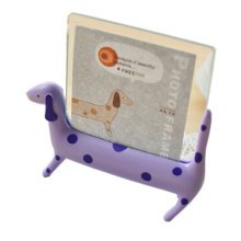 """Creative Lovely Spotty Dog Decor Recycle Table-top Photo Frames 4"""" PURPLE"""