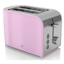 Swan 2-Slice Retro Toaster With Browning Control 800 W - Pink (ST17020PN)