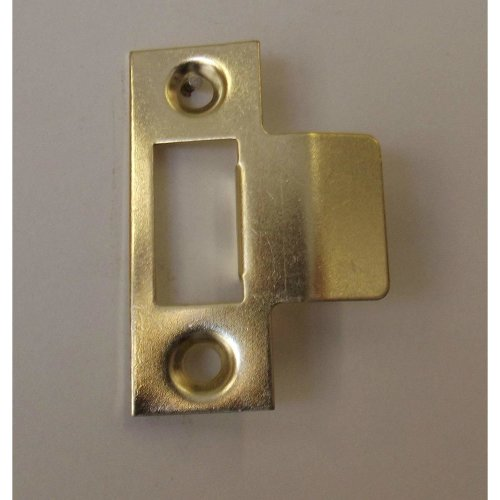 Brass Plated Mortice Latch Lipped Strike Plate