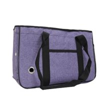 Pet Carrier Soft Sided Travel Bag for Small dogs & cats- Airline Approved, Purple #24