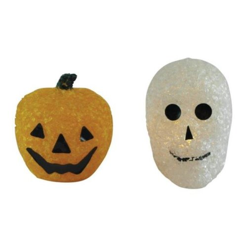 Home Plus 91 972 001 Led Sparkly Halloween Pumpkin Ghost Assorted
