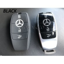NEW HIGH QUALITY SILICONE 3 BUTTON SMART INTELLIGENT KEY FOB PROTECTOR CASE COVER GLOVE 2016 2017 MERCEDES-BENZ MODEL C-CLASS AMG E-CLASS S-CLASS CLA GLA HYBRID (Black)