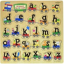 Small World Toys Ryans Room  Wooden Puzzle -ABC Train
