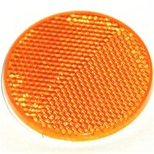 United States Hardware RV-658C 2 in. Amber Reflector