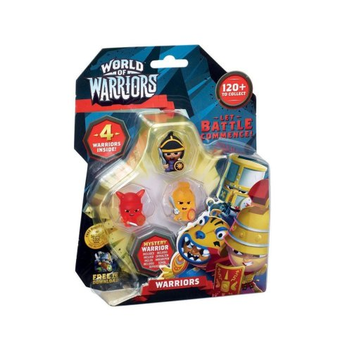 World Of Warriors 4 Pack Warriors - Styles May Vary