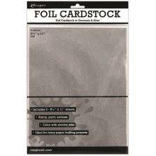 "Inkssentials Foil Cardstock 3/Pkg-Silver 8.5""X11"""