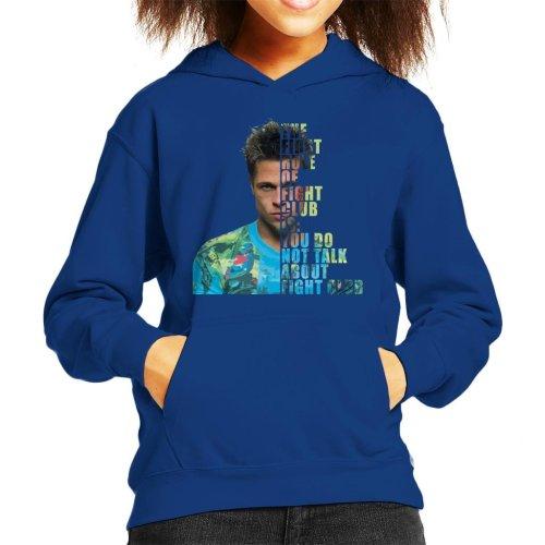 Fight Club Tyler Durden Half Head Kid's Hooded Sweatshirt