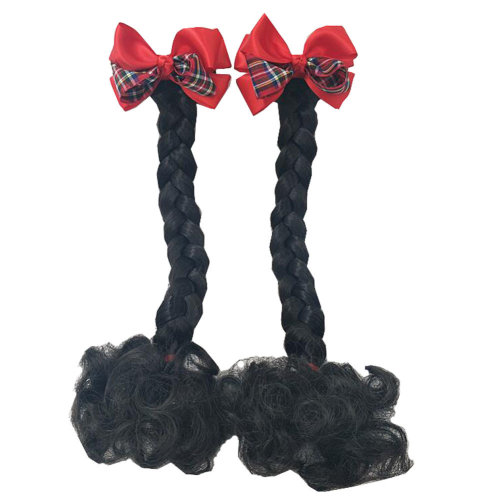 Fashion Children Girls Braided Wigs Hair Extensions Hair Clip Kids Hairpiece Wig, F