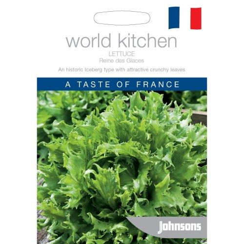 Johnsons World Kitchen Vegetable - Pictorial Pack - Lettuce Reine des Glaces - 1000 Seeds