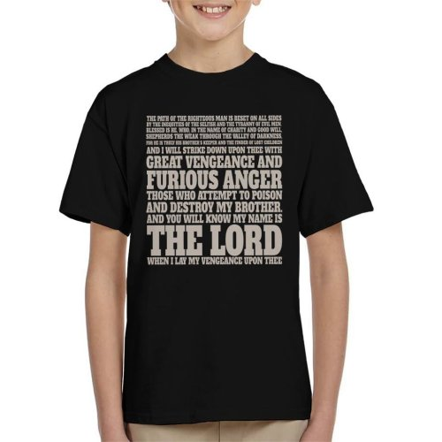 Jules Winnfield Bible Quote Pulp Fiction Kid's T-Shirt