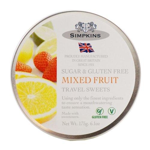 Simpkins Sugar Free & Gluten Mixed Fruit Travel Sweets 175g