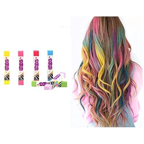 UMKYTOYS Hair Colouring Chalk For Kids Adults Temporary Liquid Colour  Effect Hair Chalk Present Gift Set For Girls