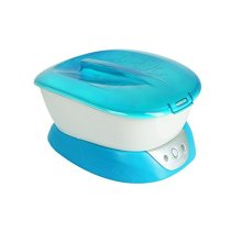 HoMedics ParaSpa Plus Paraffin Bath, Safety system with locking lid, Includes 3 lbs of hypo-allergenic wax and 20 liner, PAR-350