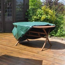 Kingfisher Medium Oval Waterproof Patio Set Cover for Garden Furniture Table & Chairs