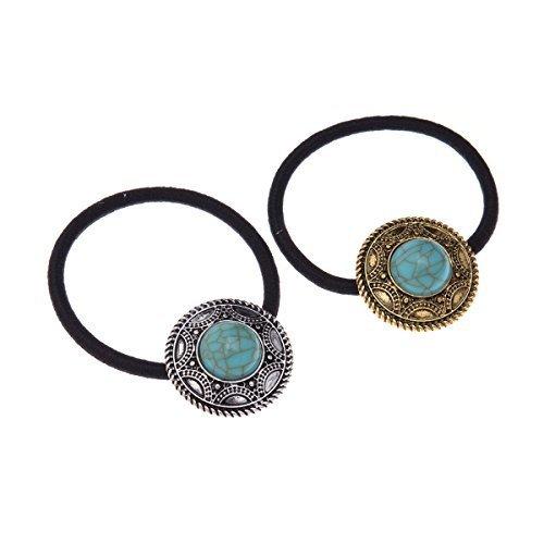 Fashion Elastic Rhinestone Hair tie Ponytail Holder Headband Jewelry Accessories for Women Girls Hair Band by Hair Accessories (Circular)
