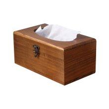 Practical Retro Wooden Tissue Boxes Paper Pumping Box Convenient (a)