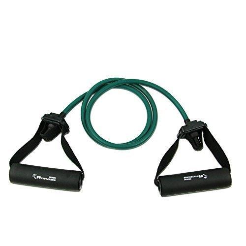 RFitness RF1505 GR Professional Stretch Latex Exercise Tubing with Sponge Handle Door Anchor Medium Green