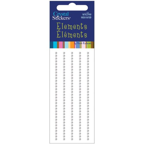 Crystal Stickers Elements 2mm Round 160/Pkg-Clear