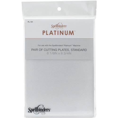 "Spellbinders Platinum Cutting Plates 2/Pkg-Standard 6.125""X8.75"""