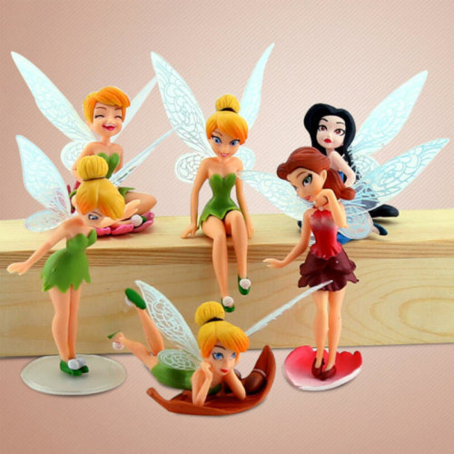 6X Flower Fairy Pixie Fly Wing Family Miniature Dollhouse Garden Ornament CL DL