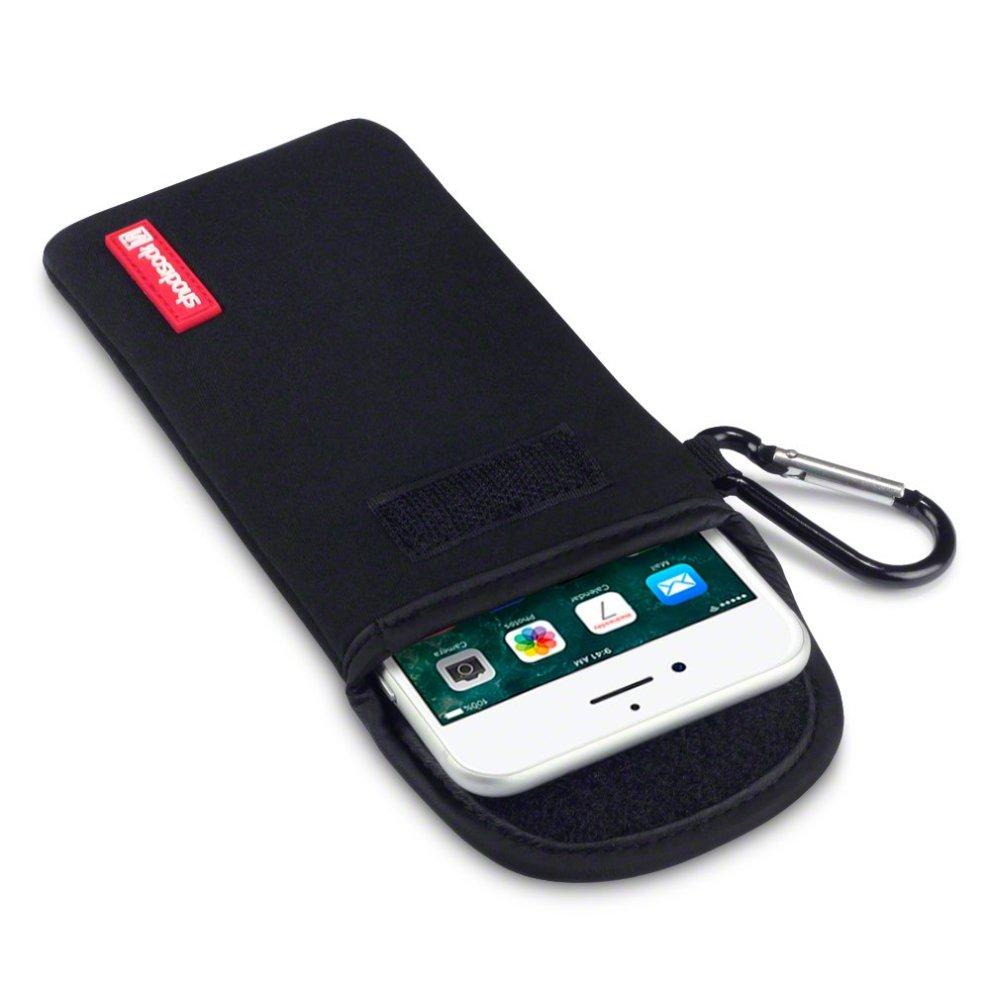 huge selection of 59a6f a32c8 iPhone 8 Plus / iPhone 7 Plus Case, Shocksock iPhone 8 Plus Neoprene Case -  Impact Shock Resistant - Velcro Closure - Carabiner - Black