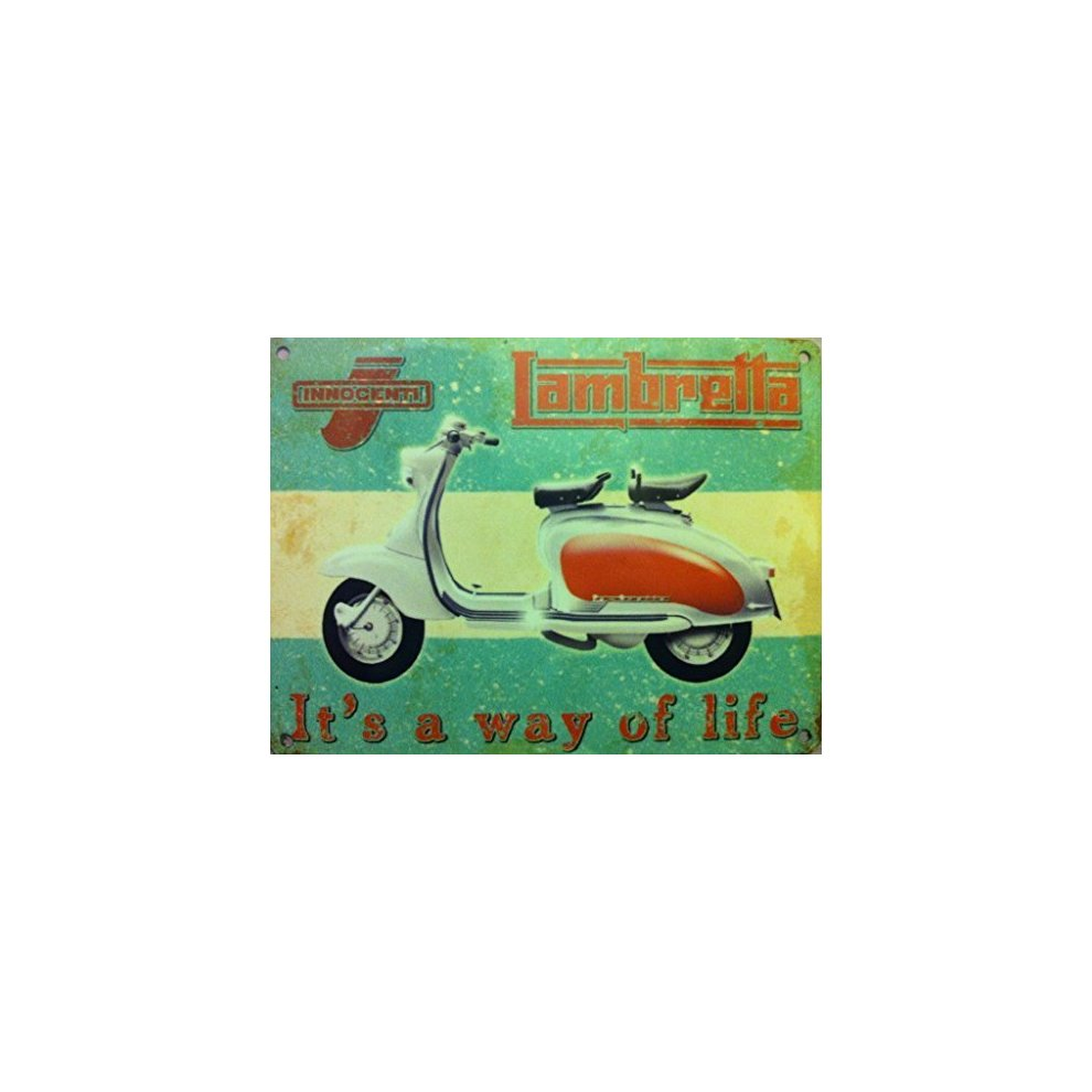 c6d886198 Lambretta - Way of Life- Innocnti, white and red. Scooter Moped on OnBuy
