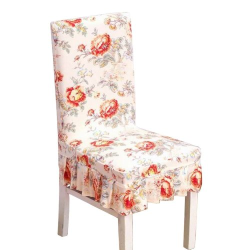 [Flowers-09] Stretch Dining Chair Slipcover Chair Cover Chair Protector