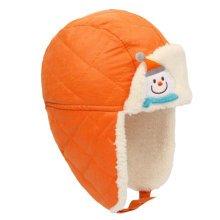Winter Baby Kids Warm Earmuffs Hats Comfortable Cotton Inner Caps Best Gift-Orange