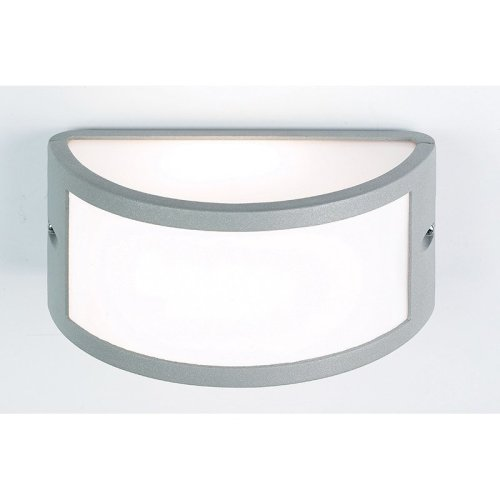 Modern IP44 60W Outdoor Wall Light In Textured grey paint