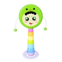 Lovely Colorful Hit toy Rattle Drum Baby Toy Music Sound Toy Baby Rattle(Snake)