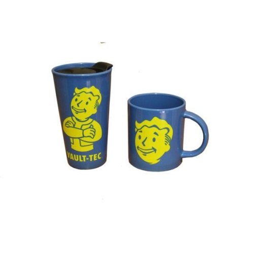 Fallout Vault Boy Travel Mug and Mug set