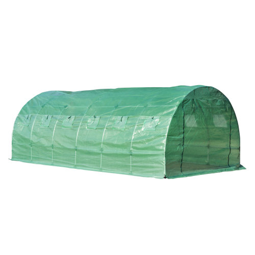 Outsunny Walk-in Greenhouse, 6 x 2 M-Green