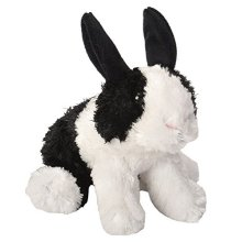 Wild Republic 18cm Hug'ems Bunny Plush Toy (black/white) - Hugems Dutch Soft 18 -  wild republic hugems bunny toy plush dutch soft 18 cm blackwhite