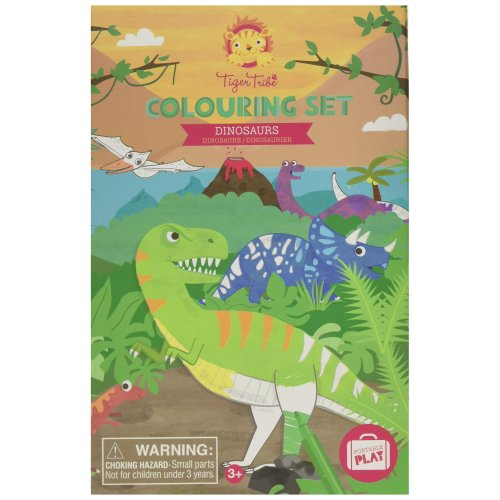 Tiger Tribe Colouring Set, Dinosaurs Arts and Crafts Kit