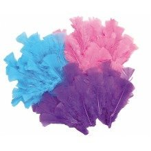 Pbx2470735 - Playbox - Easter Feathers W/ Wire - 3 Colours - 144 Pcs