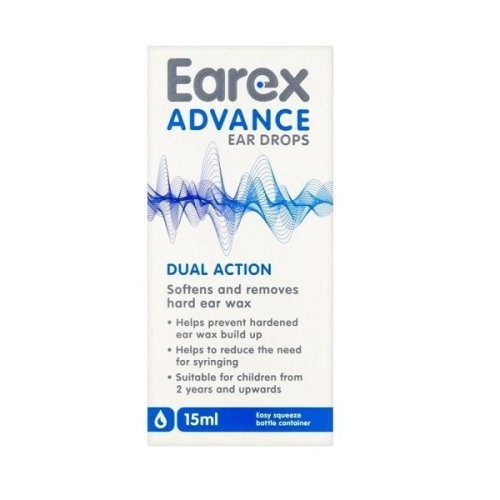 Earex Advance Ear Wax Removal Drops 15ml