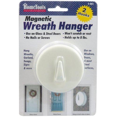 """Magnetic Wreath Hanger 2.5""""-White"""