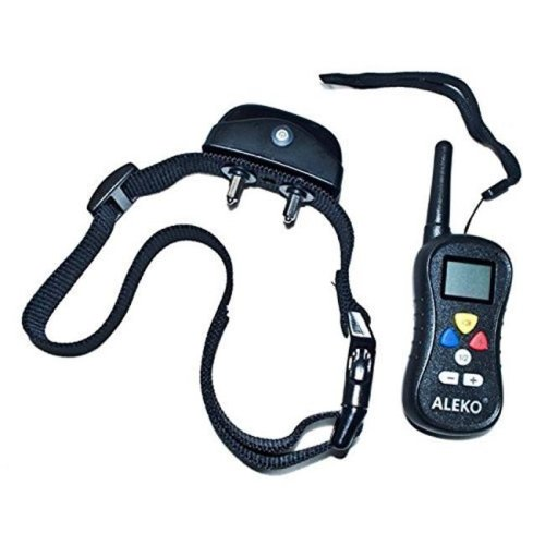 Aleko TS-TC008-UNB Water Resistant Remote Pet Training Dog Collar, 16 Levels