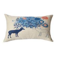 Beautiful and Practical Waist Pillow Decorative Lumbar Pillow, Blue