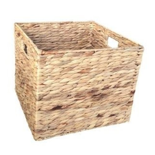 Medium Water Hyacinth Square Storage Basket