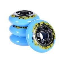 Inline Skate Wheels Kit 80MM Blue Skate Wheels, 8 Packs