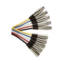Standard 3 Pin XLR  Plug to XLR Line Socket Microphone Lead 6m - Colour Black
