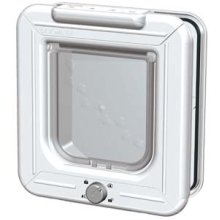 Rotary 4-way Locking Cat Flap White