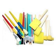 Children Brush Brush Painting Brush Washable Paintbrush Sponge Brush 25pcs