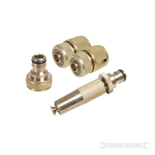 Silverline Fittings Set Brass 4pce 4pce