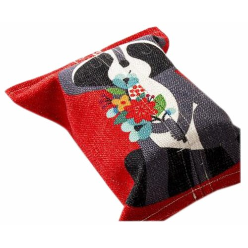 Convenient Cloth Toilet Paper Tissue Holder Storage Box Red